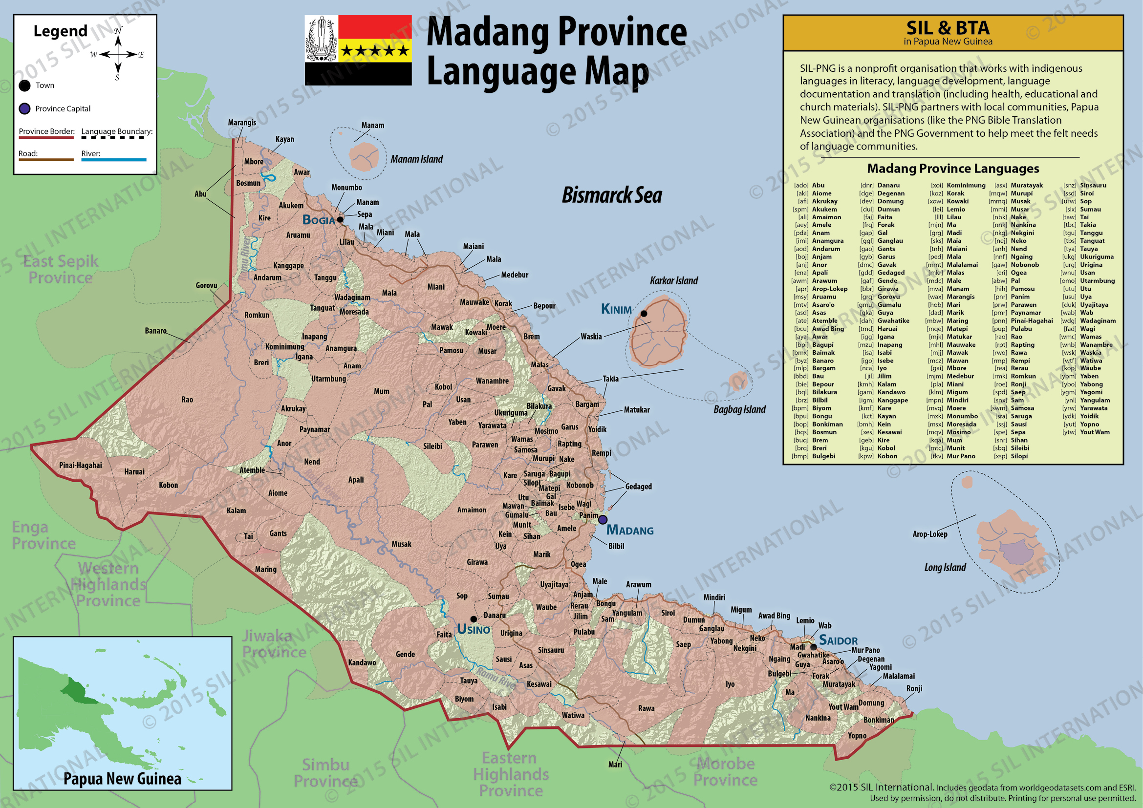 Language distribution maps | Languages of Papua New Guinea