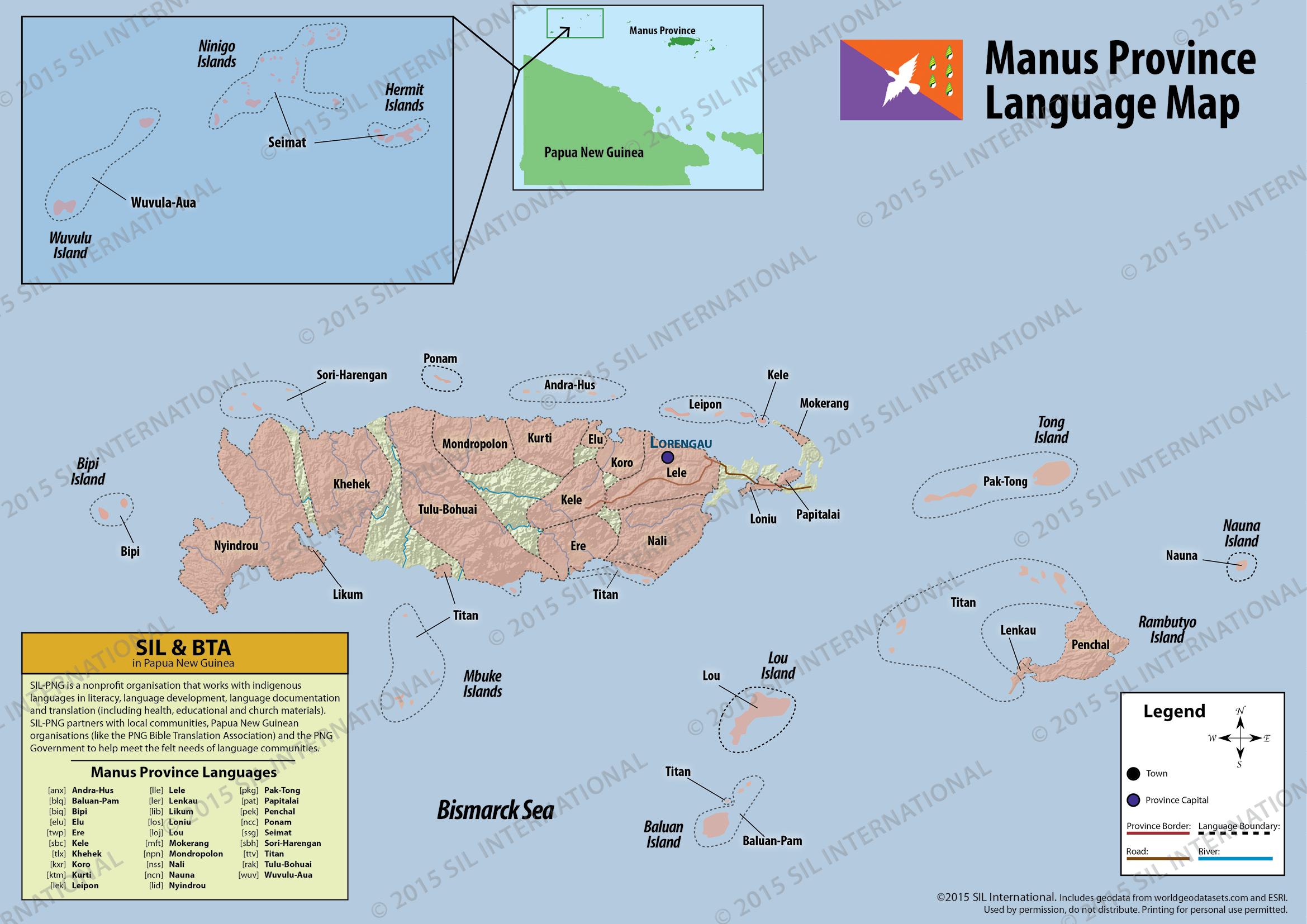 Language distribution maps | Languages of Papua New Guinea