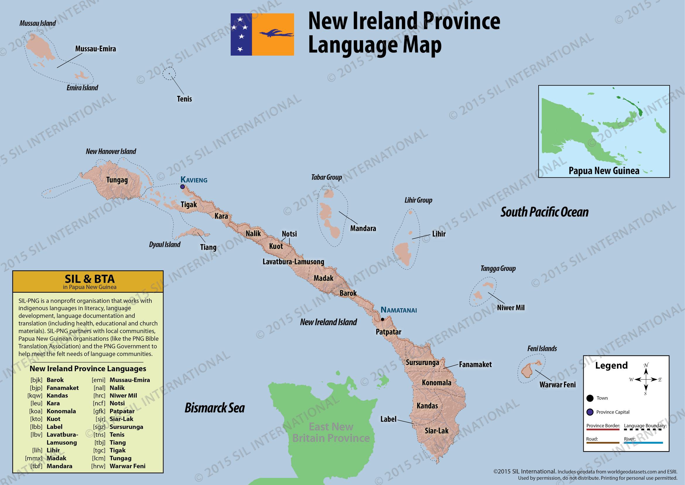Language Distribution Maps Languages Of Papua New Guinea